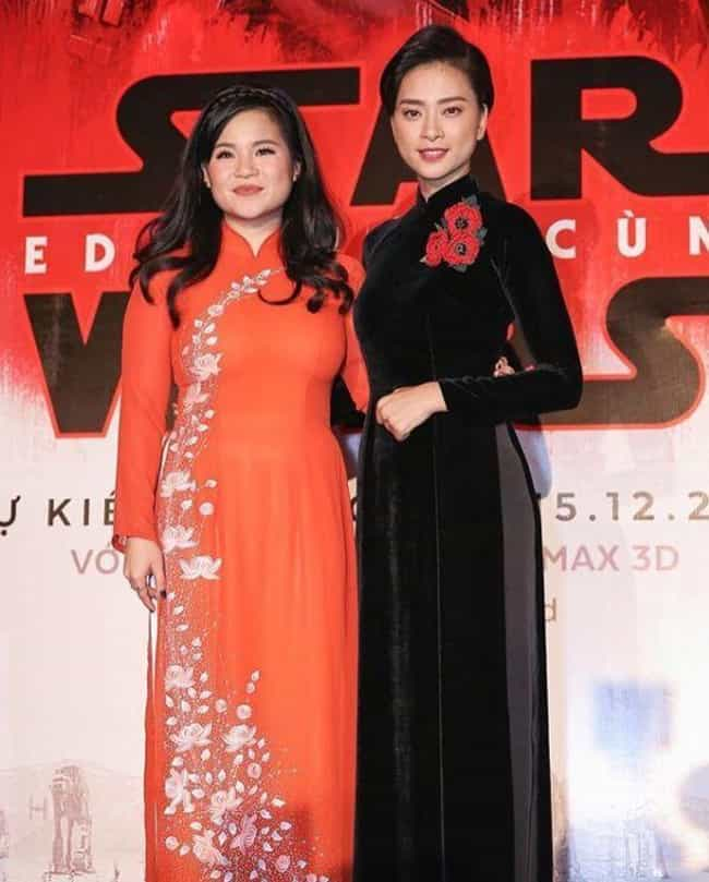 She Paid Tribute To Her Parent... is listed (or ranked) 2 on the list 'Star Wars' Actress Kelly Marie Tran Is The Internet's New Favorite Geek Hero