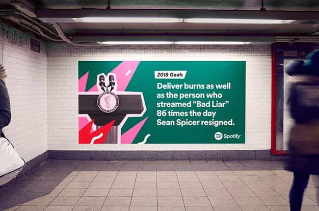 Feelings On Fire is listed (or ranked) 4 on the list Spotify Reveals Users' Most Embarrassing Listening Habits For 2017 On Hilariously Giant Billboards