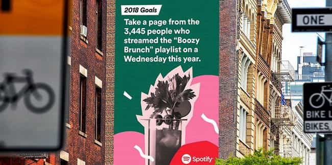 It's Always Time For Mimosas is listed (or ranked) 2 on the list Spotify Reveals Users' Most Embarrassing Listening Habits For 2017 On Hilariously Giant Billboards