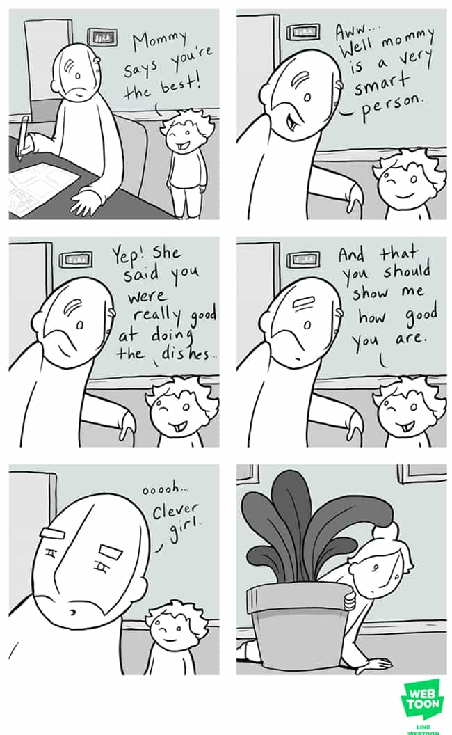 Mommy Knows Best is listed (or ranked) 2 on the list This Geeky Dad's Comics Teach Us All About Love, Tolerance, And Dealing With Depression