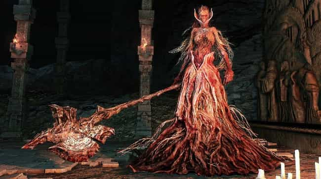 Elana, the Squalid Queen is listed (or ranked) 3 on the list List of All Dark Souls 2 Bosses Ranked Best to Worst