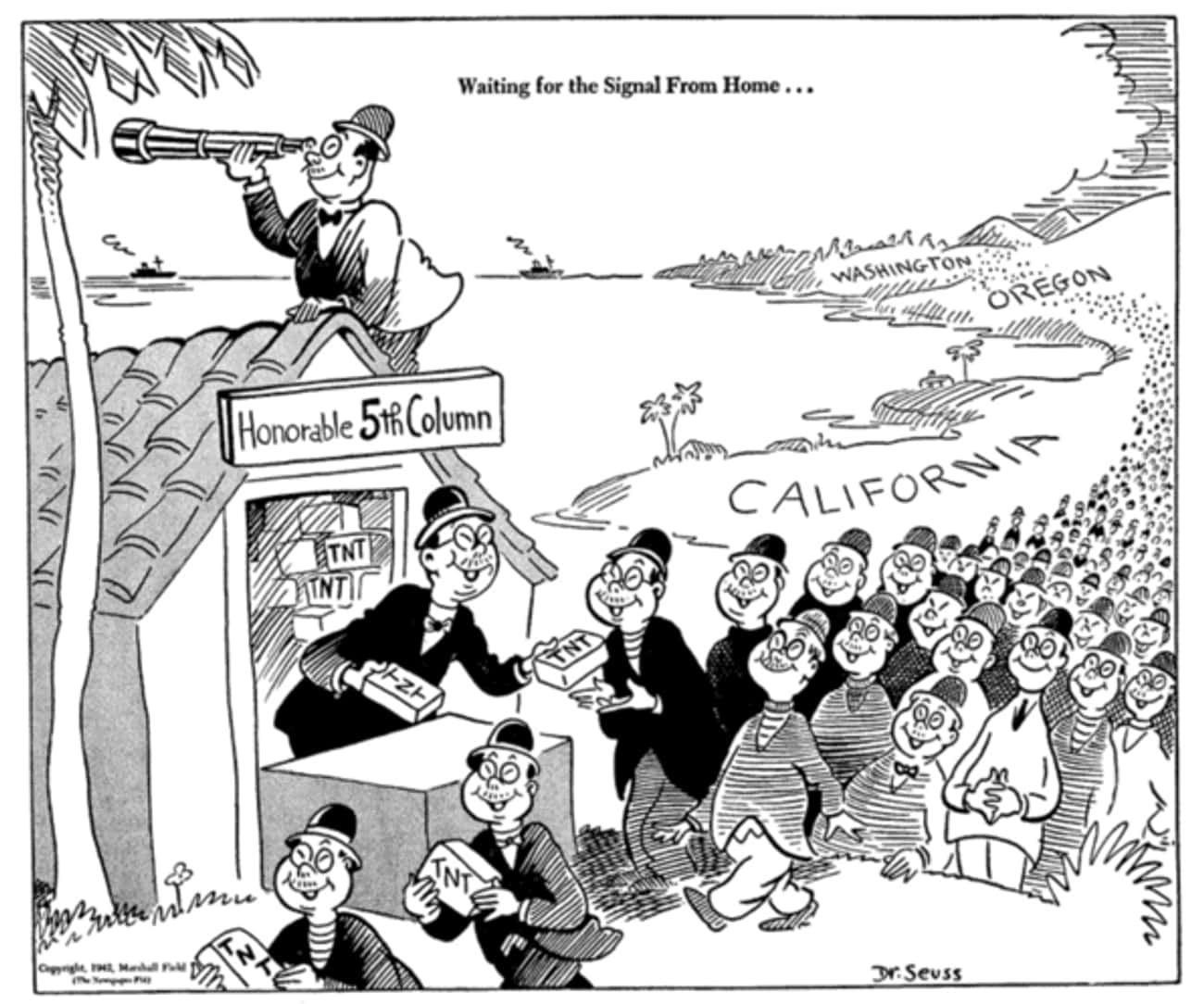 Seuss Was Hired To Create Offensive Anti-Japanese Propaganda During The Second World War