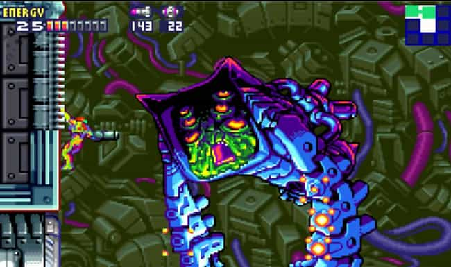 Nightmare X (Gravity Suit Guar... is listed (or ranked) 3 on the list List of All Metroid Fusion Bosses Ranked Best to Worst