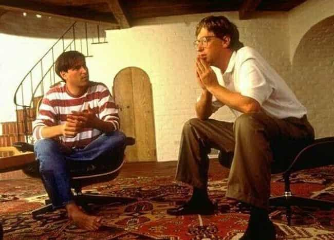 Jobs And Gates Founded Their C... is listed (or ranked) 1 on the list How Steve Jobs And Bill Gates Went From Friends To Bitter Enemies