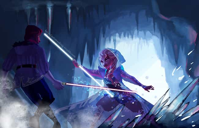 Lightsabers Pair Well With Ice is listed (or ranked) 3 on the list Star Wars And Disney Mashup Fan Art Is Exactly What The Universe Needed