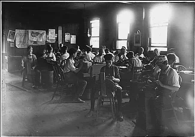 Boys In A Cigar Factory In Ind... is listed (or ranked) 1 on the list These Pictures Show The Brutal Reality Of Life Before Child Labor Laws In The US