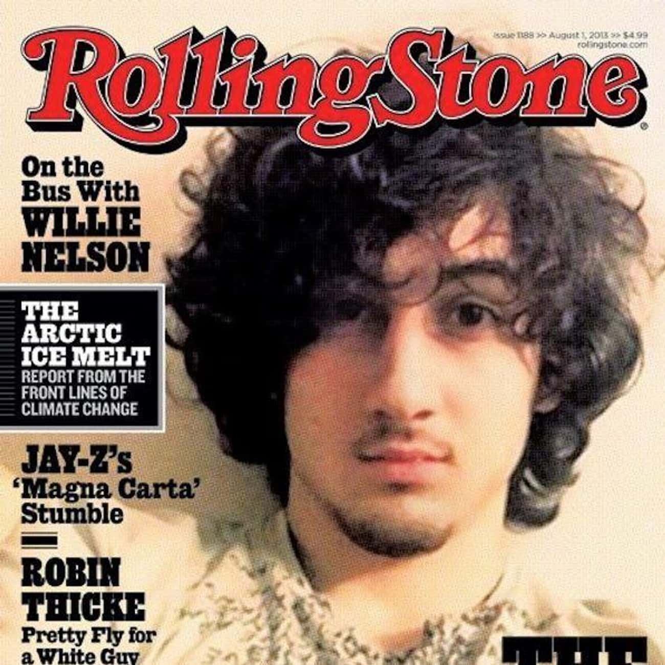 The Bomber - Rolling Stone, Ju is listed (or ranked) 1 on the list The Most Controversial Magazine Covers Of All Time