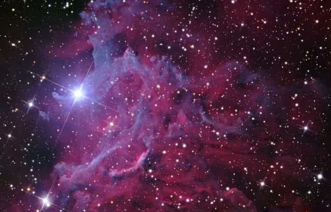 """Flaming Star Nebula is listed (or ranked) 3 on the list Incredible Images Of Emission Nebulae, The """"Rainbows"""" Of Outer Space"""
