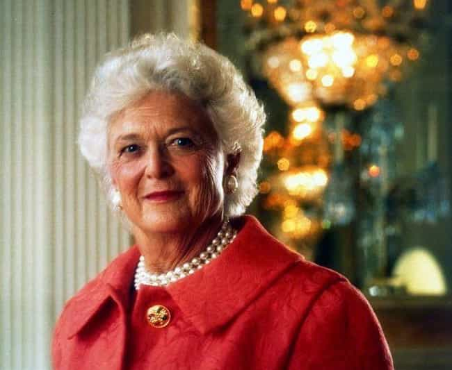 Barbara Is Such A Tyrant Her O... is listed (or ranked) 2 on the list The Surprisingly Un-American Attitudes And Bizarre Behavior of George H.W. And Barbara Bush