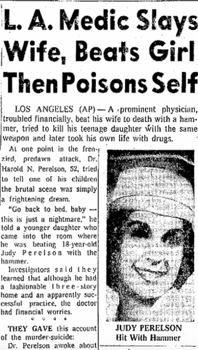 After Murdering His Wife, Dr. ... is listed (or ranked) 3 on the list The Los Feliz Murder Mansion Was The Site Of One Family's Horrifying And Sad Christmas Tragedy