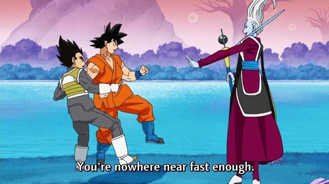 Goku and Vegeta Are Trained By is listed (or ranked) 4 on the list 14 Reasons Why You Should Be Watching Dragon Ball Super If You Loved DBZ