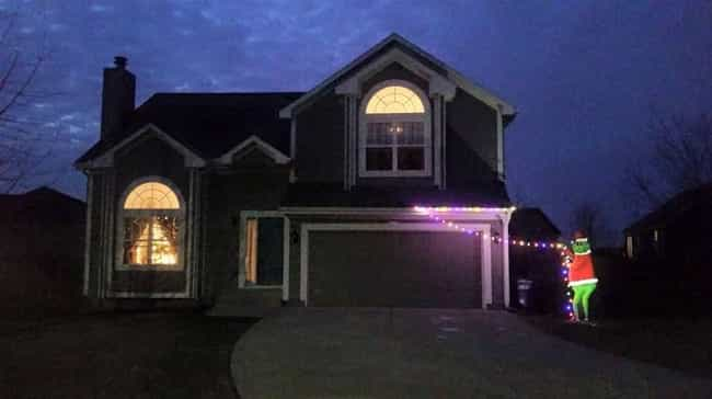 How The Grinch Saved Christmas is listed (or ranked) 1 on the list 20 Hilariously Clever Ways Lazy Christmas Decorators Decked Out Their House