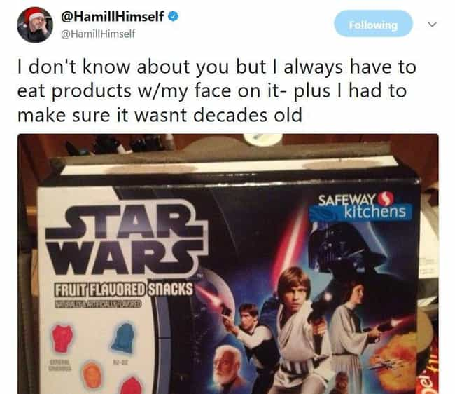 Who Wouldn't Want To Eat Thems... is listed (or ranked) 2 on the list Mark Hamill Quotes That Will Definitely Awaken Your Force