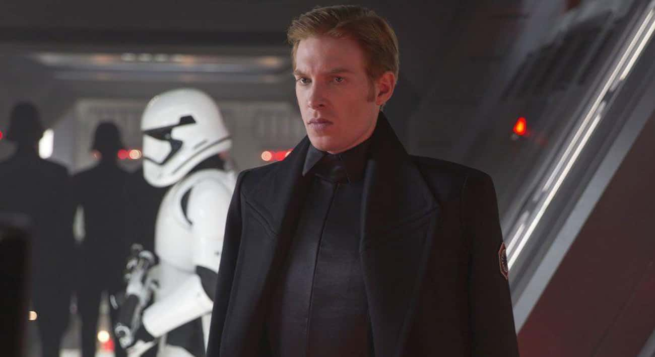 General Hux Is Kind Of A Weird is listed (or ranked) 4 on the list What The Haters Are Saying About Star Wars: The Last Jedi