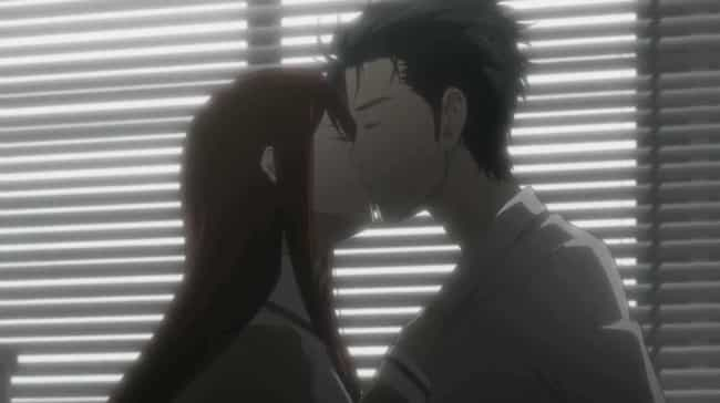 Kurisu Makise & Rintaro Okabe ... is listed (or ranked) 4 on the list The 14 Best First Kisses In Anime History