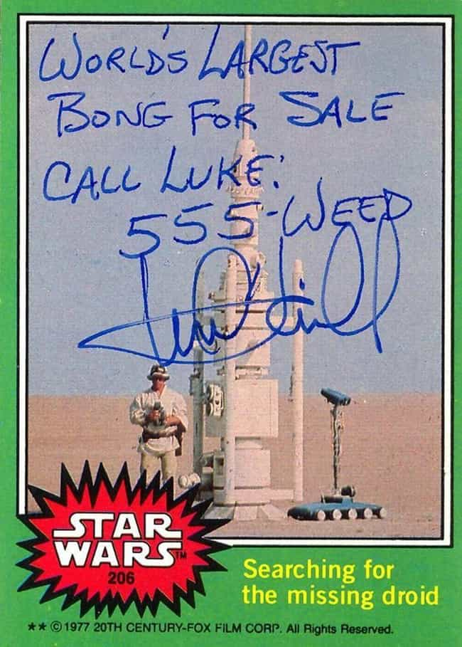 That Might Even Be The Galaxy&... is listed (or ranked) 3 on the list Mark Hamill's Autographs Prove He's The Best Actor A Fandom Could Ask For