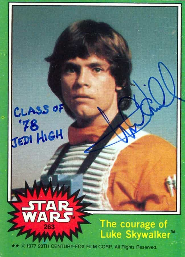 Must Be A Whole Lot Of Pent Up... is listed (or ranked) 4 on the list Mark Hamill's Autographs Prove He's The Best Actor A Fandom Could Ask For