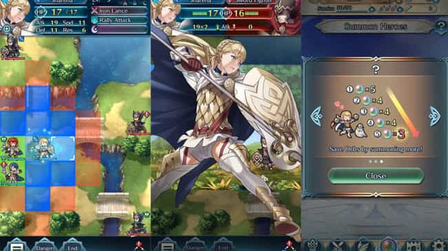 Fire Emblem Heroes is listed (or ranked) 3 on the list 14 Anime Mobile Games That Are Definitely Worth Your Time