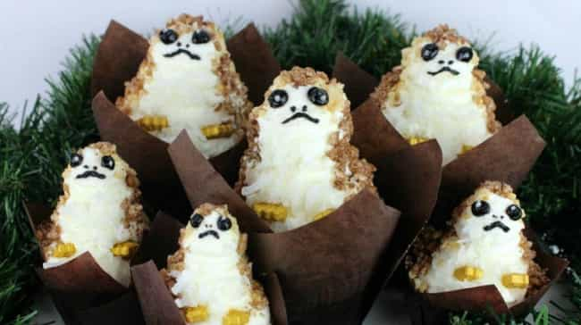 Porg Cupcakes is listed (or ranked) 3 on the list Star Wars-Themed Snacks To Satisfy Your Hunger And Make You One With The Force