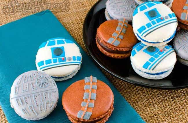 Star Wars Macarons is listed (or ranked) 1 on the list Star Wars-Themed Snacks To Satisfy Your Hunger And Make You One With The Force