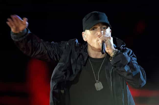 Eminem's Rep Said The Grin... is listed (or ranked) 4 on the list People Are Freaking Out After Eminem Said He Uses Tinder And Grindr Dating Apps