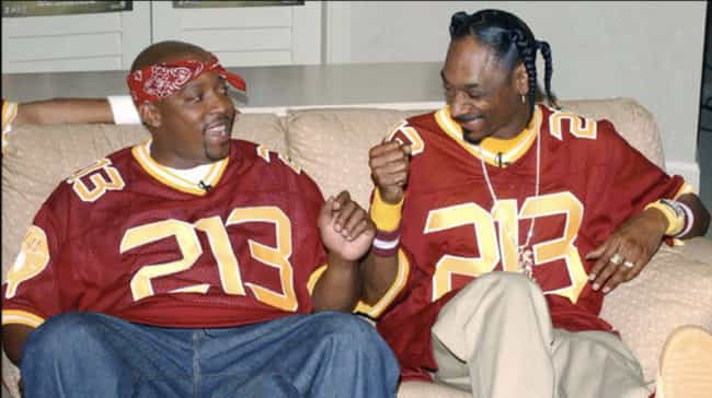 Snoop Dogg And Nate Dogg... is listed (or ranked) 1 on the list Rappers You Didn't Know Were Related