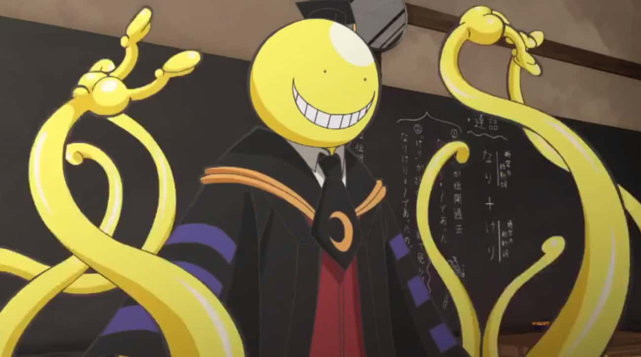 Koro-Sensei Of 'Assassinat is listed (or ranked) 1 on the list 16 Anime Characters Who Kept MAJOR Secrets From Everyone