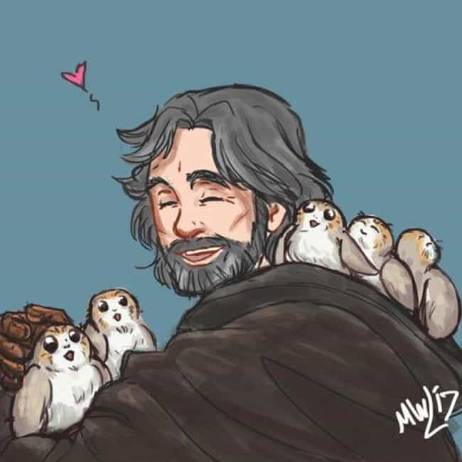 Skywalker And His Friend... is listed (or ranked) 1 on the list Aporgable Fan Art That Will Make You Wish Porgs Were Real