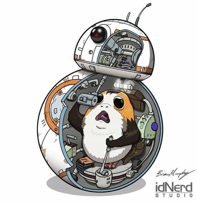 'I'm The Captain Now' is listed (or ranked) 3 on the list Aporgable Fan Art That Will Make You Wish Porgs Were Real