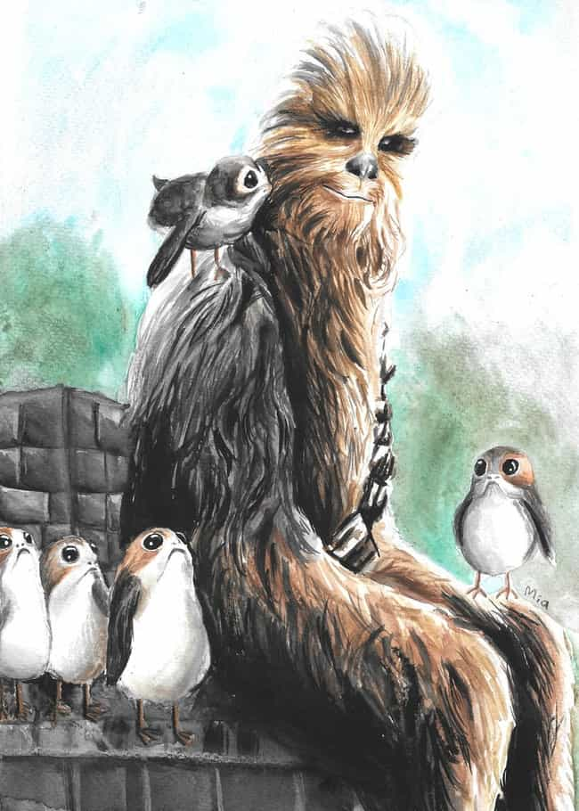 Furry Companions is listed (or ranked) 4 on the list Aporgable Fan Art That Will Make You Wish Porgs Were Real