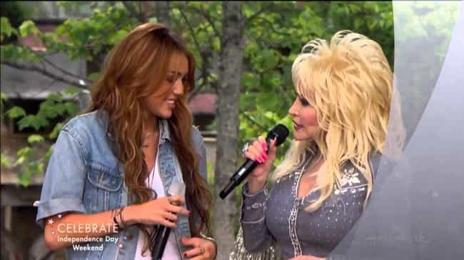 Miley Cyrus And Dolly Pa... is listed (or ranked) 1 on the list Country Singers You Didn't Know Are Related