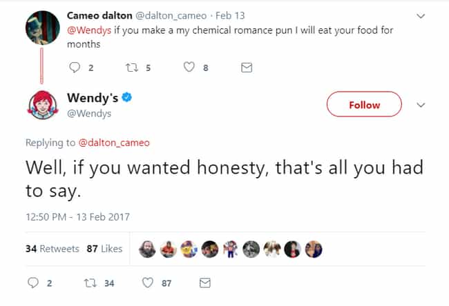 Wendy Was An Emo Kid is listed (or ranked) 18 on the list 20 Savage Tweets That Prove Wendy's Twitter Is The Best Twitter