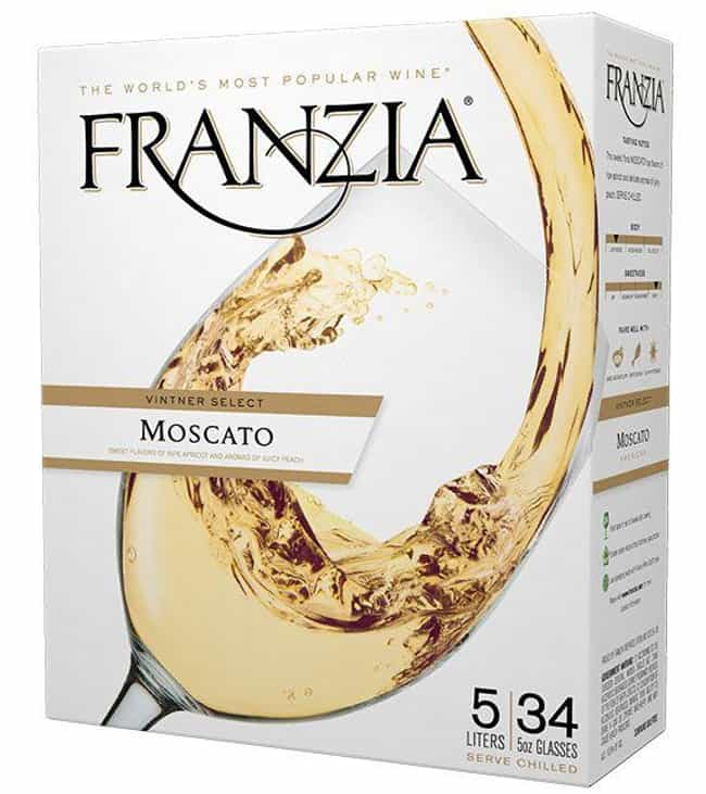 Franzia Moscato is listed (or ranked) 2 on the list The Very Best Flavors of Franzia Boxed Wine