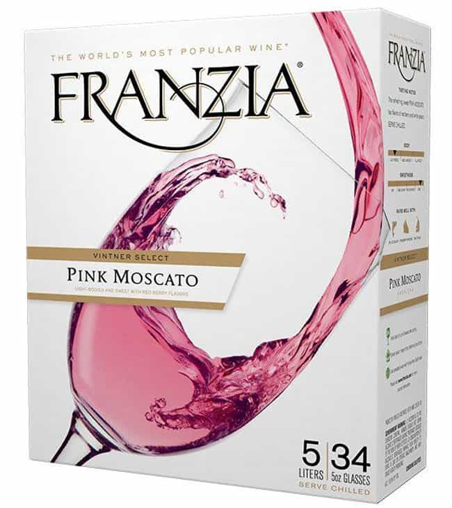 Franzia Pink Moscato is listed (or ranked) 3 on the list The Very Best Flavors of Franzia Boxed Wine