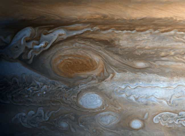 The Storm Is More Than 200 Mil... is listed (or ranked) 2 on the list Welcome To Jupiter's Great Red Spot, The Most Fascinating Place In The Solar System