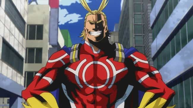 All Might is listed (or ranked) 4 on the list The 20 Manliest Anime Men Of All Time