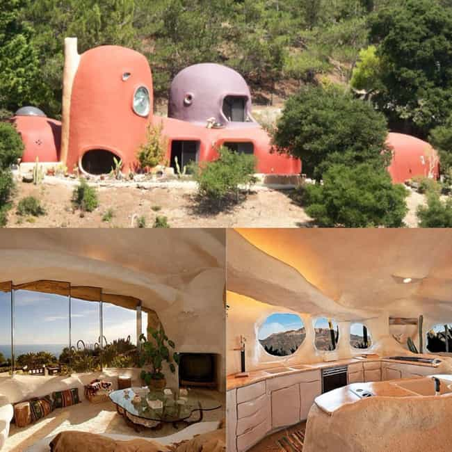 A Modern Stone Age Bedro... is listed (or ranked) 4 on the list Real-Life Houses That Were Inspired By Cartoons