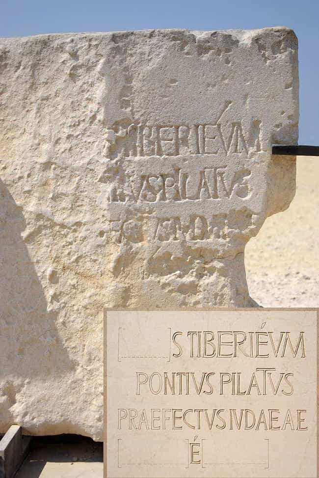 The Pilate Stone Proves That P... is listed (or ranked) 3 on the list Here Is All The Physical Evidence That Jesus Christ Was A Real Person