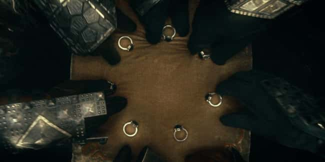 The heads of notable dwarvish clans got the Seven of the 20 Rings of Power.