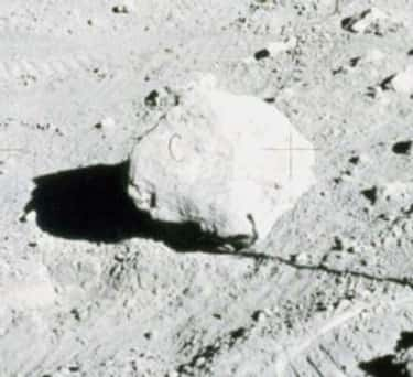 """The """"C"""" On This Moon Rock Is Just A Fiber That Got Caught In The Photo Copier"""