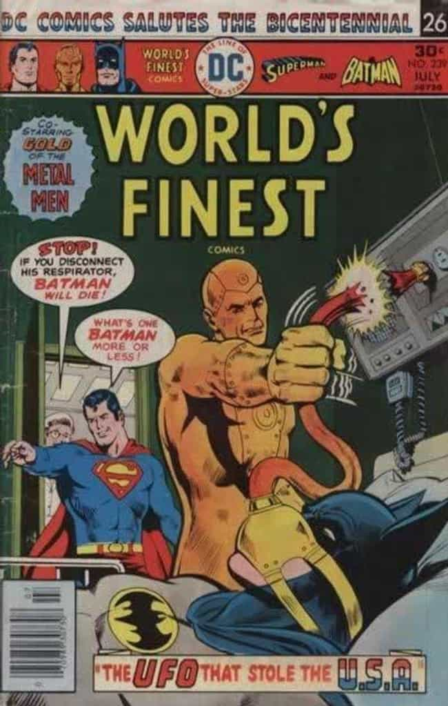 So Long, Batman! is listed (or ranked) 3 on the list 15 Superman Comic Covers That Are INSANE Out of Context