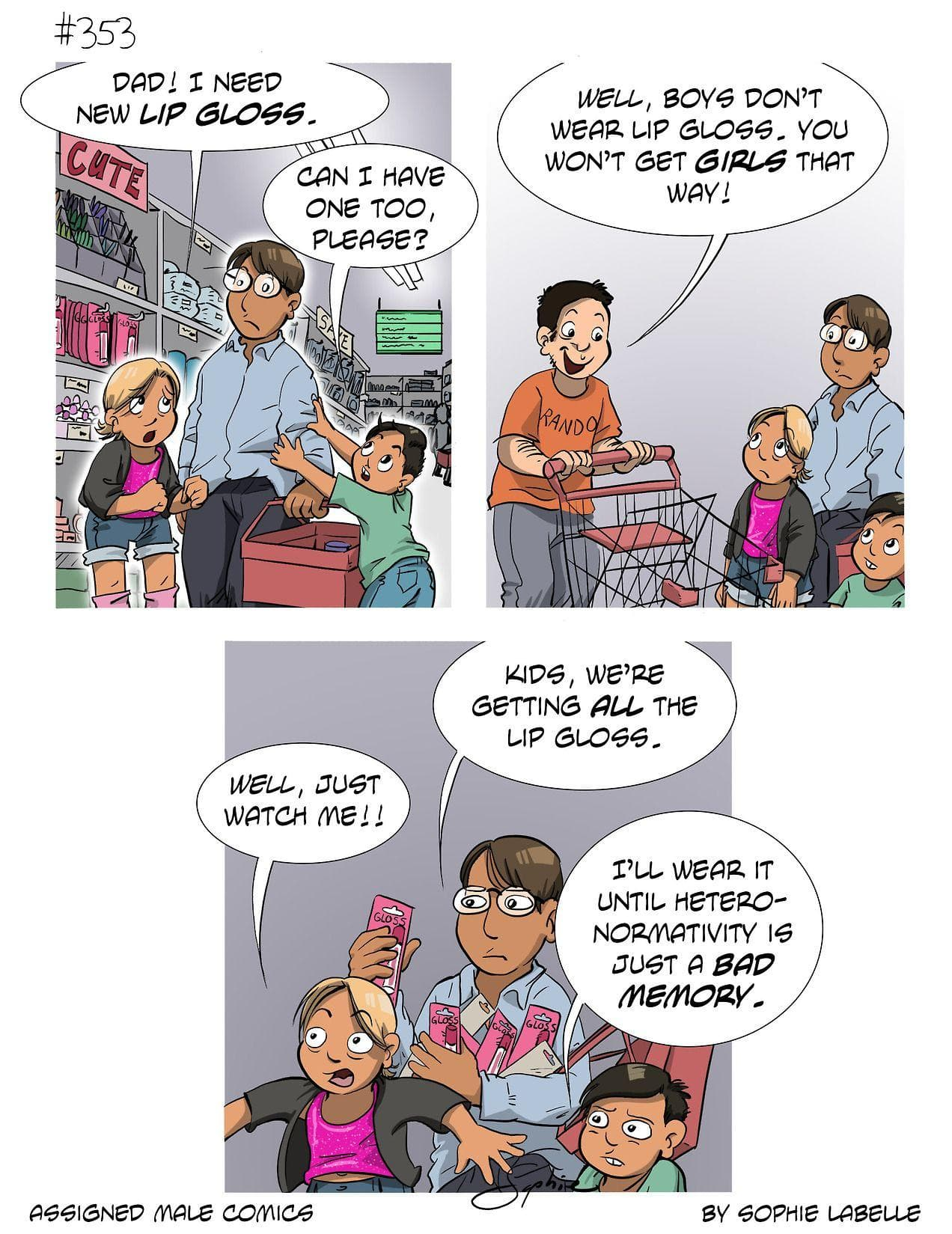Random Eye-Opening Comics About Being Trans Created by This Artist