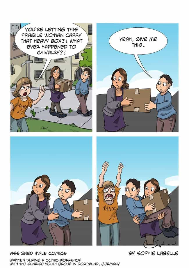 'Oh Chivalry? He's Dea... is listed (or ranked) 3 on the list This Artist Creates Eye-Opening Comics About Being Trans