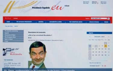 The Spanish PM Was Replaced With Mr. Bean On An Official Site