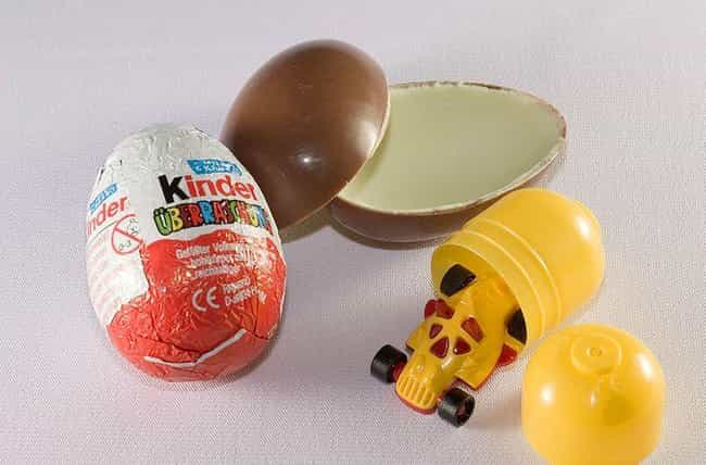 The Original Kinder Eggs Are B... is listed (or ranked) 1 on the list The Story Behind The Unexpectedly 'Deadly' Kinder Surprise Egg