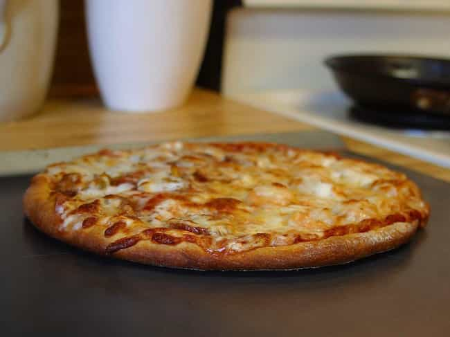 Pizza is listed (or ranked) 3 on the list 23 Things You Can Buy With Bitcoin