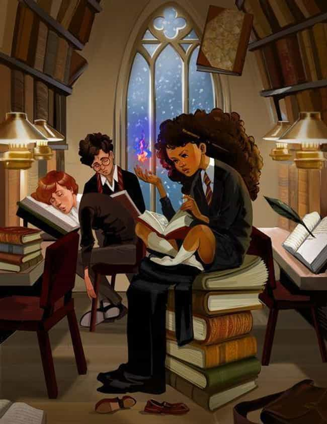 It's Not A Study Sesh If R... is listed (or ranked) 4 on the list Gorgeous Racebent Harry Potter Fan Art
