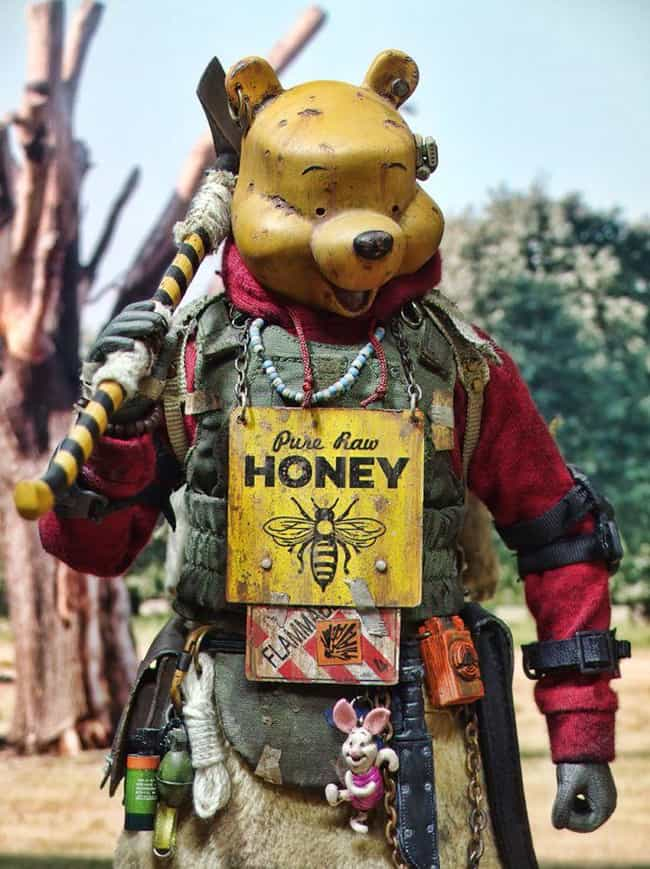 A Hardcore Honey Bear is listed (or ranked) 3 on the list Badland Models Transforms Pop Culture Icons Into Mad Max-Style Bandits
