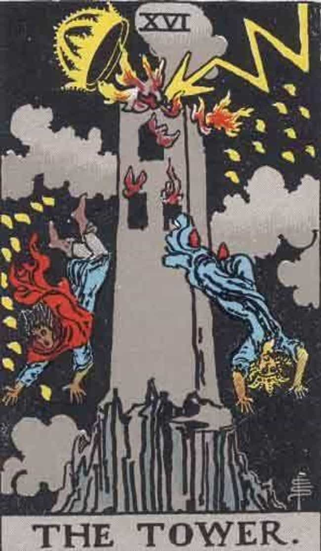 The Tower is listed (or ranked) 2 on the list When Your Tarot Reader Draws These Cards, They Know It's Bad News