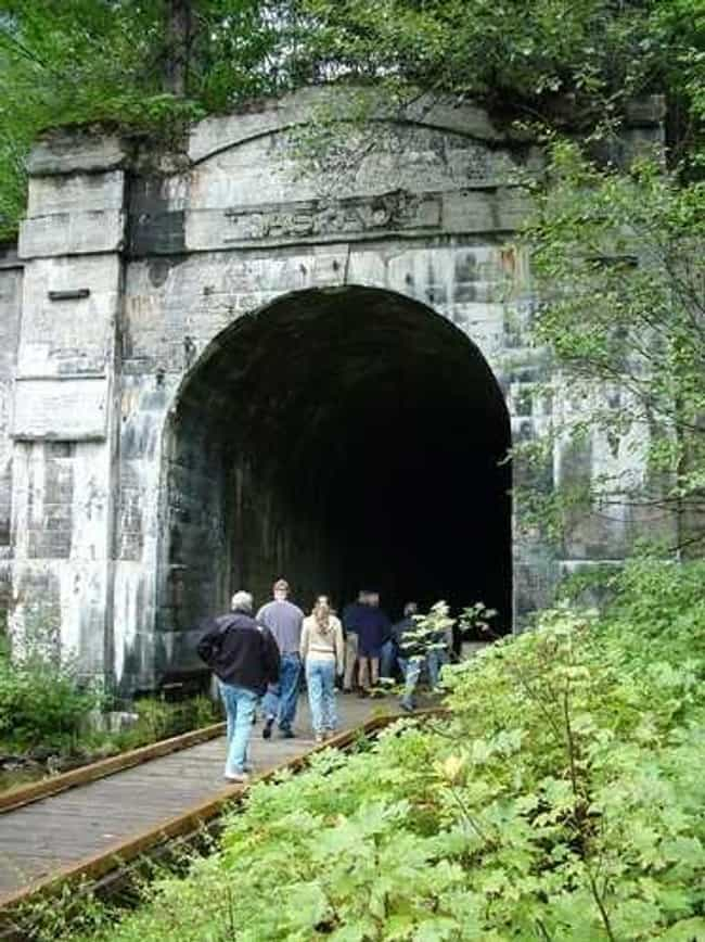 A Trainload Of Passenger... is listed (or ranked) 3 on the list Scariest Hiking Trails In The U.S. That You Can Explore (If You Dare)